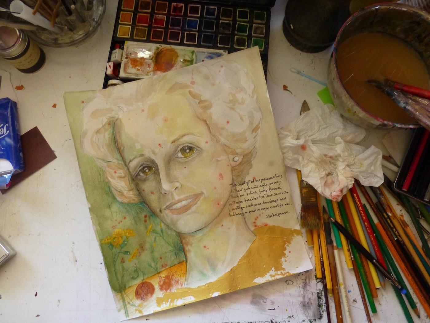 Livia Alessandrini - RUBIES AND FRECKLES (my Mother)-workinprogress