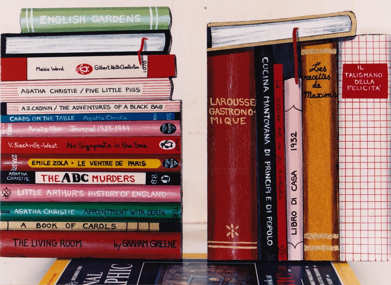 Livia Alessandrini - Two Book ends Bibliotheca