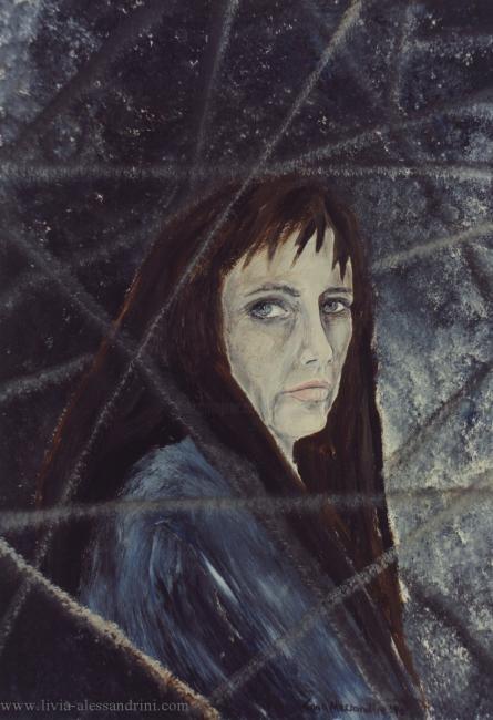 Livia Alessandrini - AUTORITRATTO IN BLU-1990
